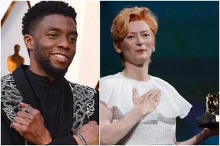 Venezia 2020: Tilda Swinton ricorda Chadwick Boseman e ritira il Leone alla carriera