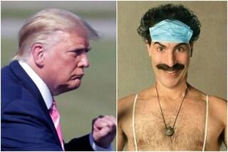 """Borat 2, Donald Trump: """"Sacha Baron Cohen è un verme"""". La risposta: """"Buffone razzista"""""""