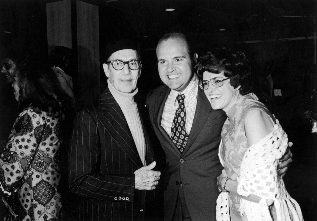Con Groucho Marx e Dom DeLuise