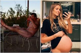 La foto di Josh Brolin nudo che sorseggia il caffè: a scattarla la moglie incinta
