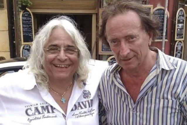 Lo sceneggiatore e regista Francesco Malavenda e il giornalista Amedeo Goria. Fonte: Facebook