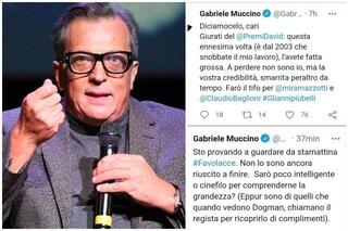"""Gabriele Muccino contro i David di Donatello che non l'hanno candidato: """"Avete perso credibilità"""""""