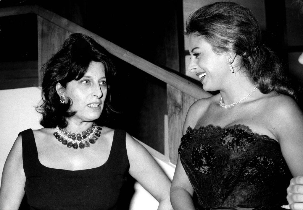 Anna Magnani e Sandra Milo, 1961
