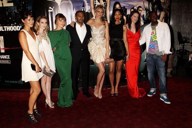 Emma Roberts, Ophelia Lovibond, Noel Clarke, Tamsin Egerton, Shanika Warren–Markland, Michelle Ryan e Bashy alla premiere di un film nel 2010.