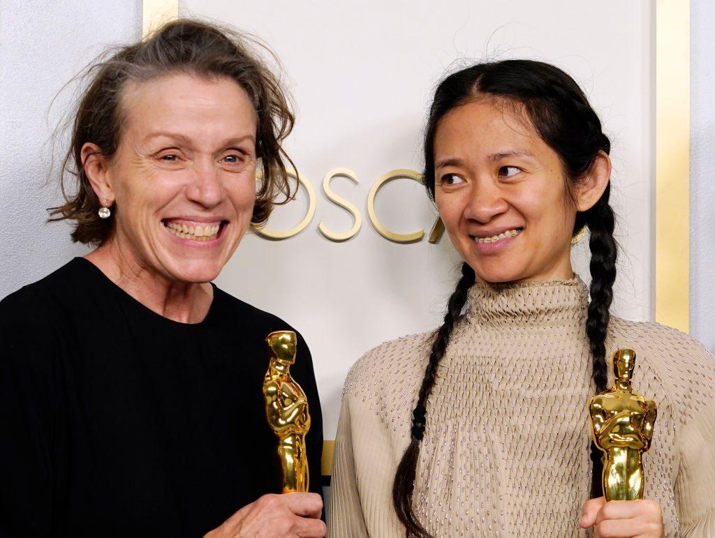 Con la regista Chloé Zhao