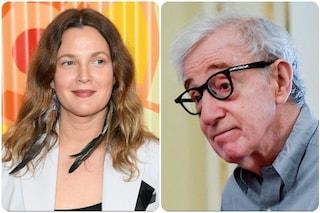 """Drew Barrymore rinnega Woody Allen: """"Pentita di aver lavorato con lui"""""""