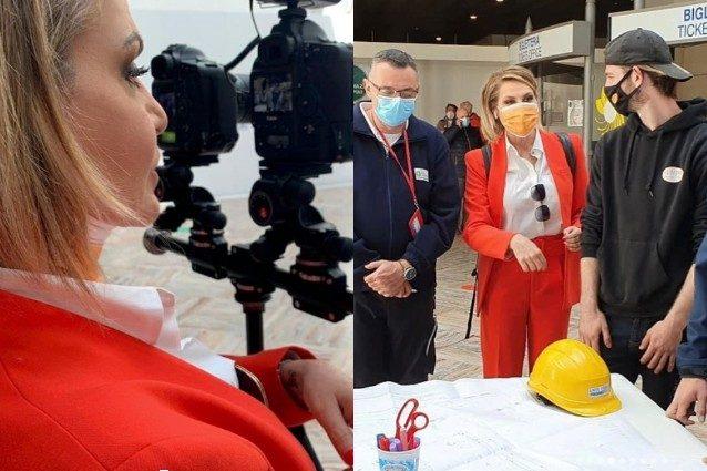 """Simona Ventura in concorso al Festival di Venezia: """"Racconto la costruzione dell'ospedale a Bergamo"""""""