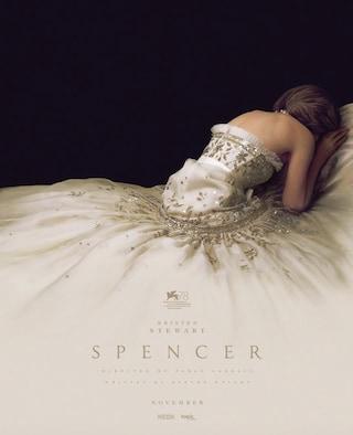 La sofferenza di Lady D nella struggente locandina di Spencer, il film con Kristen Stewart