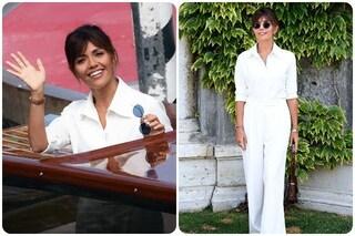 L'arrivo di Serena Rossi al Lido, madrina a Venezia78 nel giorno del suo compleanno