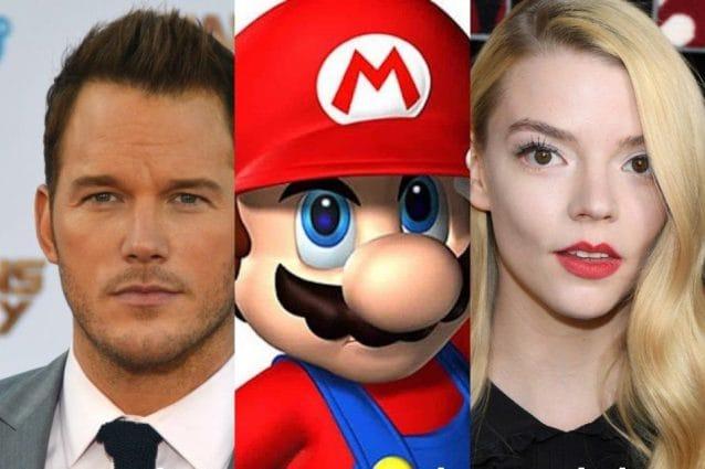 Il film di Super Mario arriva nel 2022, cast di star con Chris Pratt e Anya Taylor Joy doppiatori