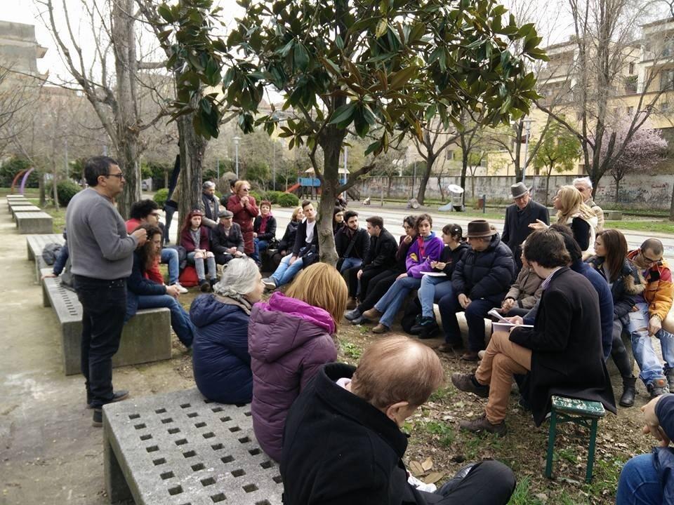 Una riunione del Comitato per Villa Giaquinto