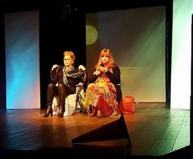 Le due attrici sulla scena di Clair de Lune