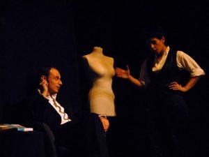 Gli attori Giuseppe Talarico e Serena Farnesi.