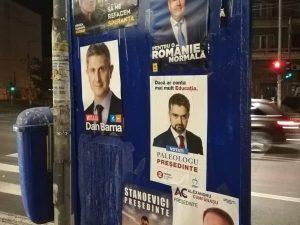 Manifesti elettorali a Bucarest per le Presidenziali 2019 (foto di Diana Jeleu)