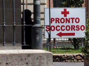 L'ingresso del pronto soccorso del Policlinico Umberto I di Roma