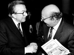 (Giulio Andreotti e Giovanni Galloni)
