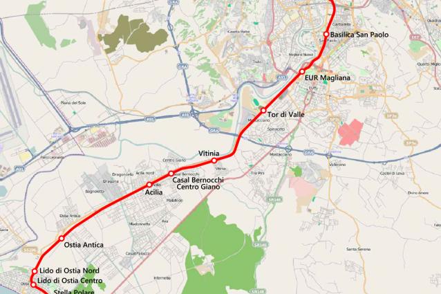 Mappa Treno Roma Lido
