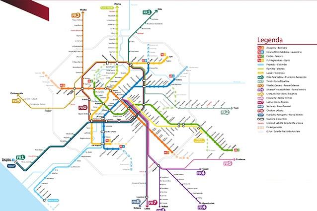 Cartina Stazioni Ferroviarie Roma.Metropolitane Di Roma Mappa Orari E Fermate Delle Linee A B B1 E C