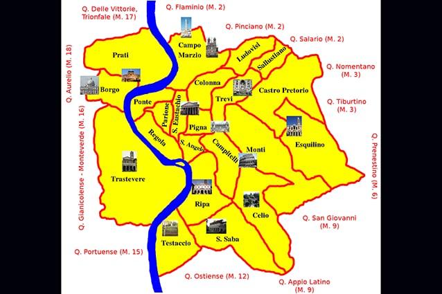 Citta Di Roma Cartina.Mappe Di Roma Per Non Perdersi Nella Capitale
