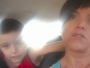 Alessandro Righetti con la mamma Simona