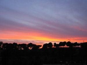 Tramonto su Villa Ada, Roma (Wikipedia).