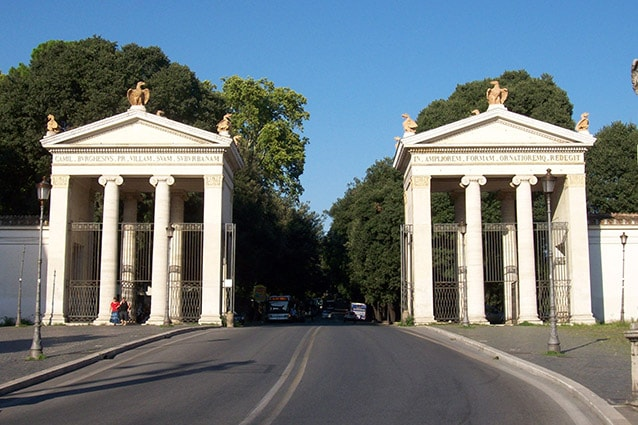 Ingresso di Villa Borghese lato piazzale Flaminio