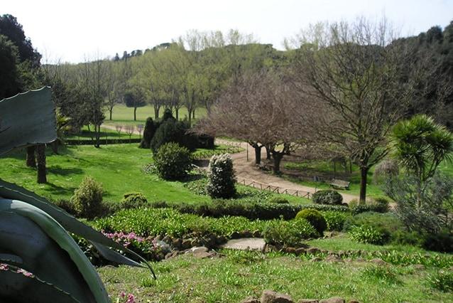 Panorama del parco di Villa Doria Pamphilj (Wikipedia).