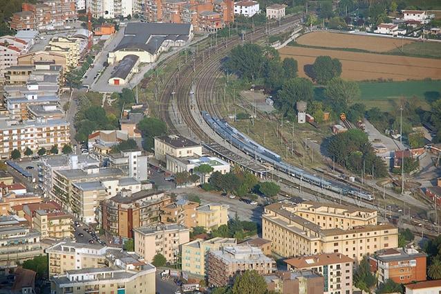 Panoramica della stazione di Cassino, capolinea della linea FL6 (Wikipedia).