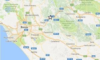 Scossa di terremoto avvertita dai residenti nella Valle dell'Aniene tra Tivoli e Sambuci