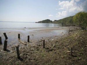 Il livello dell'acqua del lago di Bracciano a Trevignano Romano – LaPresse
