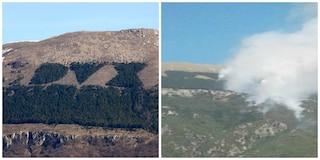 Incendio Rieti, piromani bruciano la scritta Dux: trovati due inneschi