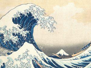"""""""La grande onda di Kanagawa"""", dalla serie """"Trentasei vedute del Monte Fuji"""""""