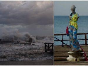 La Venere sul pontile dei Pescatori di Ostia, spazzata via dalla mareggiata di questa notte. Foto tratte dal periodico online La mia Ostia.