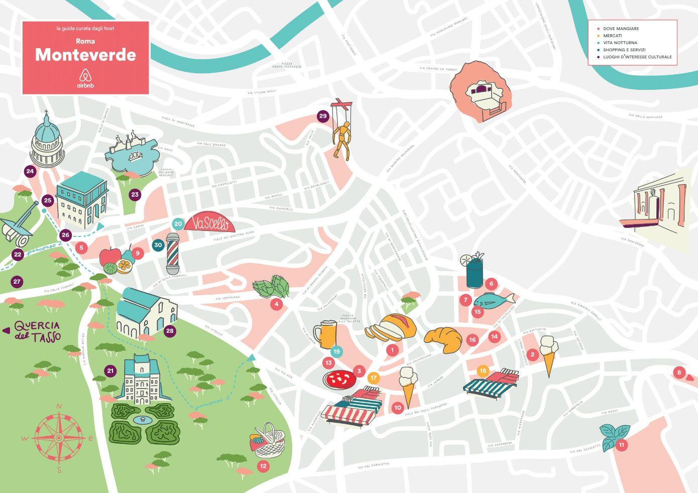 Cartina Roma Turistica.Ecco Le Mappe Turistiche Dei Quartieri Di Roma Curate Dagli Host Di Airbnb