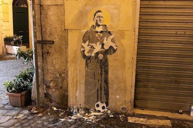 Il murale di Tvboy (dalla pagina Facebook dell'artista)