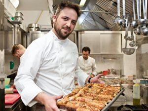 Lo chef del ristorante Acquolina di Roma Alessandro Narducci