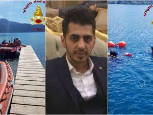 Il corpo di Elnur Babayev è stato recuperato a oltre 90 metri di profondità nel lago di Castel Gandolfo
