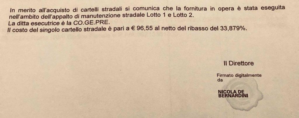 Il documento postato dalla consigliera municipale del X Municipio Mariacristina Masi