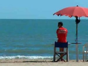 Bagnino al mare