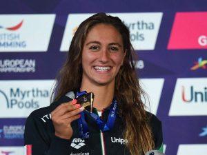 Simona Quadarella, 19enne romana, ha conquistato due medaglie d'oro agli Europei di nuoto a Glasgow