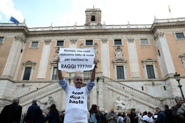 """La manifestazione di sabato scorso in Campidoglio """"Roma dice basta"""""""