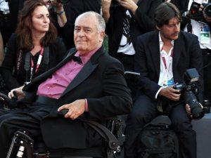 Bernardo Bertolucci sul red carpet della 70esima edizione della Mostra del Cinema di Venezia
