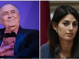 Bernardo Bertolucci e Virginia Raggi (Fonte: La Presse)