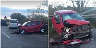 Incidente stradale su via Pontina, scontro tra auto: un ferito
