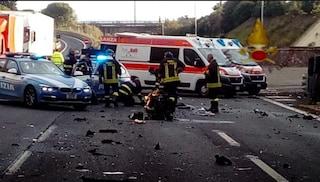 Incidente sul Gra: coinvolti tre veicoli e un furgone