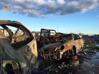 Castel Romano, rimossi 150 veicoli bruciati e bonificata l'area