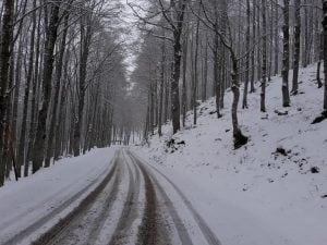 La neve caduta a dicembre a Forca d'Acero