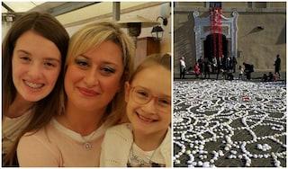 Cisterna di Latina: diecimila rose di lana per ricordare Alessia e Martina, uccise dal papà
