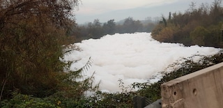 Frosinone, schiuma nel fiume Sacco: sequestrati gli scarichi di una nota azienda