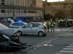 L'incidente (Foto: Facebook/Noi dei Colli Portuensi e Monteverde)